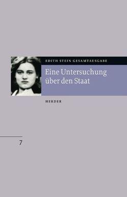 Edith Stein Gesamtausgabe / B: Philosophische Schriften von Riedel-Spangenberger,  Ilona, Stein,  Edith
