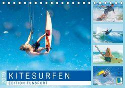 Edition Funsport: Kitesurfen (Tischkalender 2019 DIN A5 quer) von CALVENDO