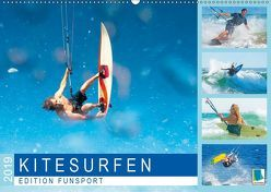 Edition Funsport: Kitesurfen (Wandkalender 2019 DIN A2 quer) von CALVENDO
