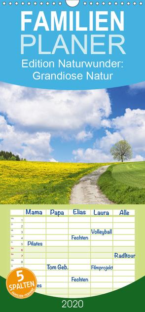 Edition Naturwunder: Grandiose Natur – Familienplaner hoch (Wandkalender 2020 , 21 cm x 45 cm, hoch) von CALVENDO