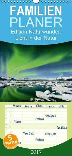 Edition Naturwunder: Licht in der Natur – Familienplaner hoch (Wandkalender 2019 , 21 cm x 45 cm, hoch) von CALVENDO