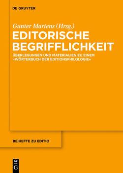 Editorische Begrifflichkeit von Martens,  Gunter