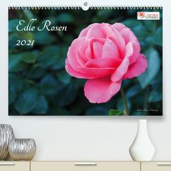 Edle Rosen (Premium, hochwertiger DIN A2 Wandkalender 2021, Kunstdruck in Hochglanz) von Rohwer,  Klaus