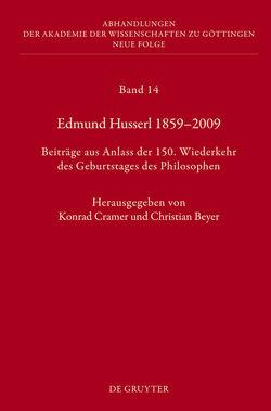 Edmund Husserl 1859–2009 von Beyer,  Christian, Cramer,  Konrad