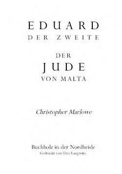 Eduard II. / Der Jude von Malta von Bülow,  Eduard von, Marlowe,  Christopher