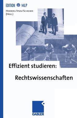 Effizient studieren: Rechtswissenschaften von Herzberg,  Rolf Dietrich, Ipsen,  Knut, Schreiber,  Klaus