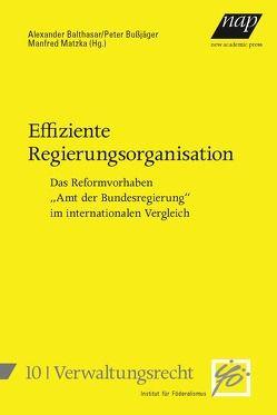 Effiziente Regierungsorganisation von Balthasar,  Alexander, Bußjäger,  Peter, Matzka,  Manfred