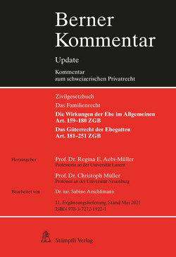 Eherecht, Art. 159–251 ZGB, 11. Ergänzungslieferung von Aebi-Müller,  Regina E, Aeschlimann,  Sabine, Müller,  Christoph