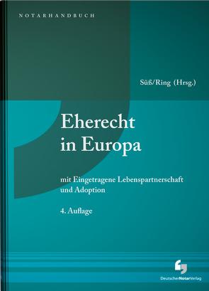 Eherecht in Europa von Ring,  Gerhard, Süß,  Rembert
