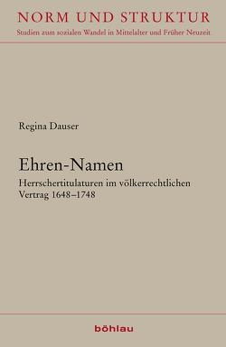 Ehren-Namen von Dauser,  Regina