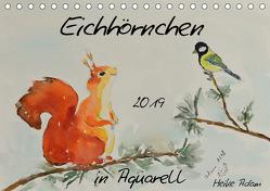 Eichhörnchen in Aquarell (Tischkalender 2019 DIN A5 quer) von Adam,  Heike