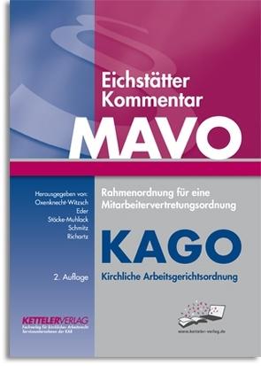 Eichstätter Kommentar MAVO & KAGO, 2. Aufl. Online-Zugang von Dr. Eder,  Joachim, Prof. Dr. Oxenknecht-Witzsch,  Renate, Richartz,  Ulrich, Schmitz,  Thomas, Stöcke-Muhlack,  Roswitha