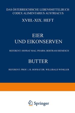 Eier und Eikonserven von Hiemesch,  Bertram, Winkler,  Willibald, Zaribnicky,  Franz