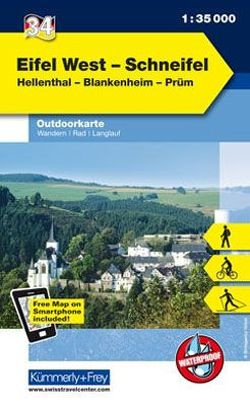 Eifel West – Schneifel Nr. 34 Outdoorkarte Deutschland 1:35 000