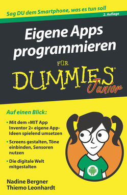 Eigene Apps programmieren für Dummies Junior von Bergner,  Nadine, Leonhardt,  Thiemo