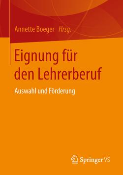 Eignung für den Lehrerberuf von Boeger,  Annette
