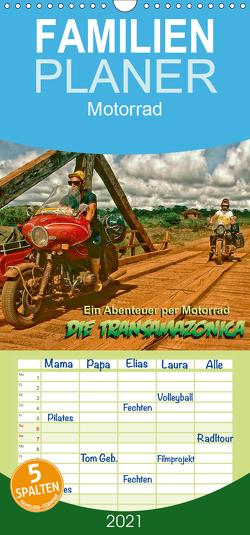 Ein Abenteuer per Motorrad – DIE TRANSAMAZONICA – Familienplaner hoch (Wandkalender 2021 , 21 cm x 45 cm, hoch) von D. Günther,  Klaus