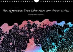 Ein abgefallenes Blatt kehrt nicht zum Baum zurück … (Wandkalender 2019 DIN A4 quer) von Reichenauer,  Maria