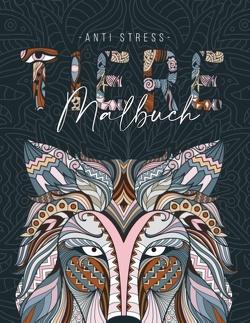Ein Anti Stress Malbuch für Erwachsenen mit 50 Tieren Motive – Malbuch mit Mandalas zum Entspannen und Stress abbauen von Weber,  Jana