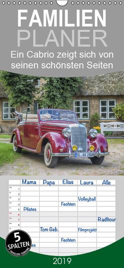 Ein Cabrio zeigt sich von seinen schönsten Seiten – Familienplaner hoch (Wandkalender 2019 , 21 cm x 45 cm, hoch) von Kuhr,  Susann