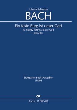 Ein feste Burg ist unser Gott (Klavierauszug) von Bach,  Johann Sebastian