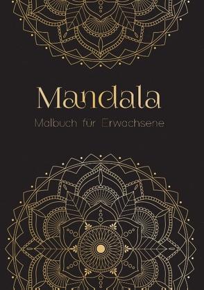 Ein Mandala Malbuch für Erwachsene – Anti Stress Malbuch und Ausmalbuch mit über 50 Mandalas   Geschenk für Frauen von Vries,  Sina