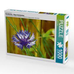 Ein Motiv aus dem Kalender Kornblumen – Blaue Schönheiten 1000 Teile Puzzle quer von Löwer,  Sabine