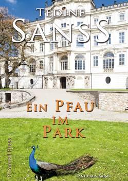 Ein Pfau im Park von Sanss,  Tedine