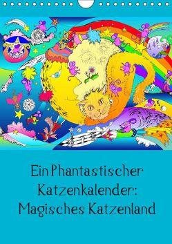 Ein phantastischer Katzenkalender: Magisches Katzenland (Wandkalender 2019 DIN A4 hoch) von Thümmler,  Silke
