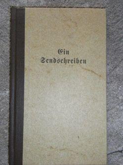 Ein Sendschreiben von Bister,  Ulrich, Hahn,  Michael, Tersteegen,  Gerhard