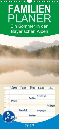 Ein Sommer in den Bayerischen Alpen – Familienplaner hoch (Wandkalender 2019 , 21 cm x 45 cm, hoch) von Wasilewski,  Martin