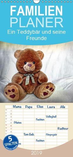 Ein Teddybär und seine Freunde – Familienplaner hoch (Wandkalender 2019 , 21 cm x 45 cm, hoch) von Chrystal,  Jennifer