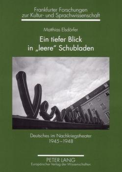 Ein tiefer Blick in «leere» Schubladen von Elsdörfer,  Matthias