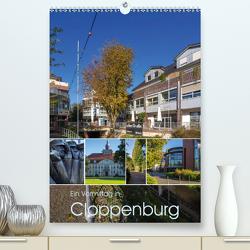 Ein Vormittag in Cloppenburg (Premium, hochwertiger DIN A2 Wandkalender 2021, Kunstdruck in Hochglanz) von Renken,  Erwin