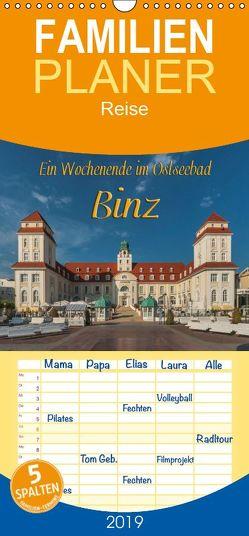 Ein Wochenende im Ostseebad Binz – Familienplaner hoch (Wandkalender 2019 , 21 cm x 45 cm, hoch) von Kirsch,  Gunter