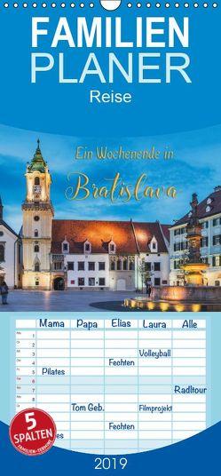 Ein Wochenende in Bratislava – Familienplaner hoch (Wandkalender 2019 , 21 cm x 45 cm, hoch) von Kirsch,  Gunter