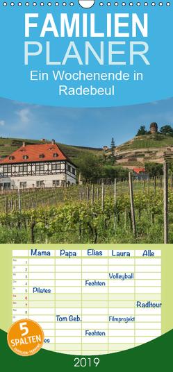 Ein Wochenende in Radebeul – Familienplaner hoch (Wandkalender 2019 , 21 cm x 45 cm, hoch) von Kirsch,  Gunter