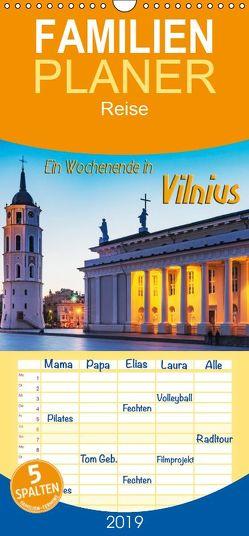 Ein Wochenende in Vilnius – Familienplaner hoch (Wandkalender 2019 , 21 cm x 45 cm, hoch) von Kirsch,  Gunter