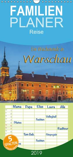 Ein Wochenende in Warschau – Familienplaner hoch (Wandkalender 2019 , 21 cm x 45 cm, hoch) von Kirsch,  Gunter