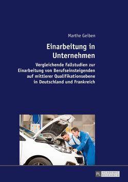 Einarbeitung in Unternehmen von Geiben,  Marthe