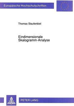 Eindimensionale Skalogramm-Analyse von Staufenbiel,  Thomas