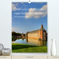 Eindrucksvolle Burgen, malerische Schlösser im Münsterland (Premium, hochwertiger DIN A2 Wandkalender 2020, Kunstdruck in Hochglanz) von Michalzik,  Paul