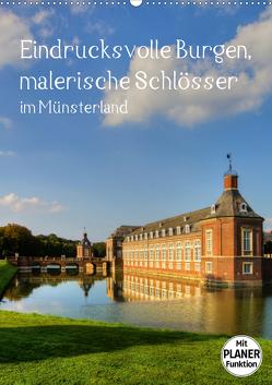 Eindrucksvolle Burgen, malerische Schlösser im Münsterland (Wandkalender 2021 DIN A2 hoch) von Michalzik,  Paul