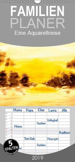 Eine Aquarellreise – Familienplaner hoch (Wandkalender 2019 <strong>21 cm x 45 cm</strong> hoch) von Ziehr,  Maria-Anna