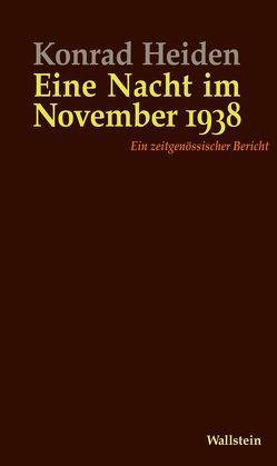 Eine Nacht im November 1938 von Feuchert,  Sascha, Heiden,  Konrad, Roth,  Markus, Weber,  Christiane