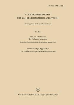 Eine neuartige Apparatur zur Hochspannungs-Papierelektrophorese von Micheel,  Fritz