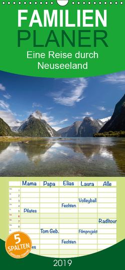 Eine Reise durch Neuseeland – Familienplaner hoch (Wandkalender 2019 , 21 cm x 45 cm, hoch) von Mueringer,  Christian