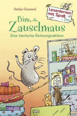 Bim, die Zauselmaus: Eine tierische Rettungsaktion (Lesenlernen mit Spaß + Bim 1) von Bruder,  Elli, Gemmel,  Stefan