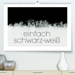 einfach schwarz-weiß (Premium, hochwertiger DIN A2 Wandkalender 2021, Kunstdruck in Hochglanz) von N.,  N.