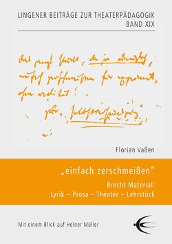 """""""einfach zerschmeißen"""" von Vaßen,  Florian"""